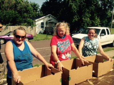 Grant Beach Neighborhood Produce Distribution