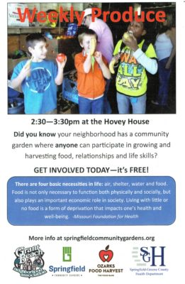 Grant Beach Neighborhood Produce Distribution Flyer 1